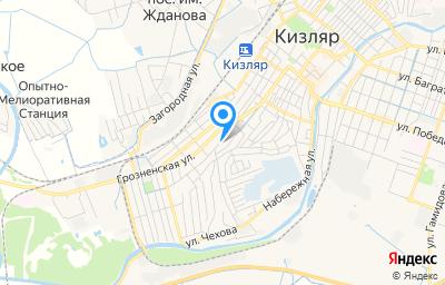 Местоположение на карте пункта техосмотра по адресу Респ Дагестан, г Кизляр, ул Красноармейская, д 30А