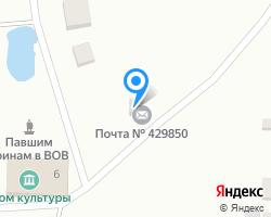 Схема местоположения почтового отделения 429850