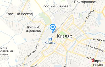 Местоположение на карте пункта техосмотра по адресу Респ Дагестан, г Кизляр, ул Мельничная, зд 1