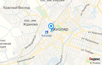 Местоположение на карте пункта техосмотра по адресу Респ Дагестан, г Кизляр, ул Туманяна, д 8