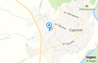 Местоположение на карте пункта техосмотра по адресу Ульяновская обл, рп Сурское, пер Ленина 5-й, д 1