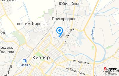 Местоположение на карте пункта техосмотра по адресу Респ Дагестан, г Кизляр, ул Кирова, д 70