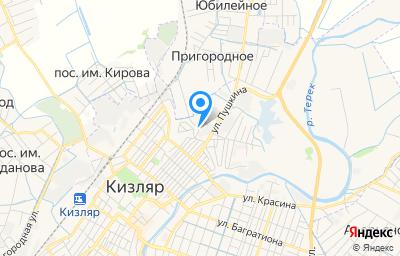 Местоположение на карте пункта техосмотра по адресу Респ Дагестан, г Кизляр, ул Кирова, зд 70