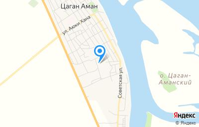Местоположение на карте пункта техосмотра по адресу Респ Калмыкия, п Цаган Аман, ул Элистинская, д 162