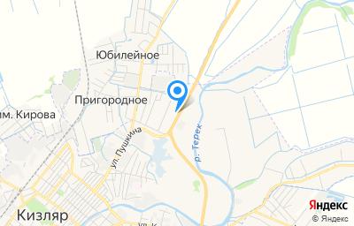 Местоположение на карте пункта техосмотра по адресу Респ Дагестан, г Кизляр, ул Магистральная, д 193