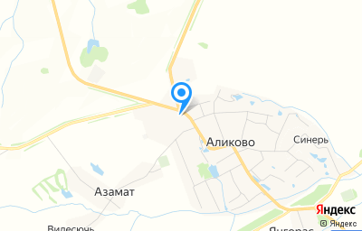 Местоположение на карте пункта техосмотра по адресу Чувашская Республика - Чувашия, с Аликово, ул Гагарина, д 43