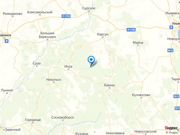 село Знаменский Сюксюм на карте