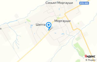 Местоположение на карте пункта техосмотра по адресу Чувашская Республика - Чувашия, Моргаушский р-н, д Шептаки (Моргаушское с/п), ул В.Егоровой, д 2