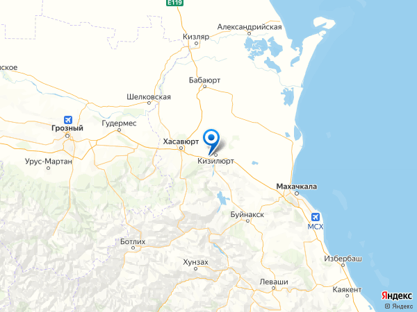 село Зубутли-Миатли на карте