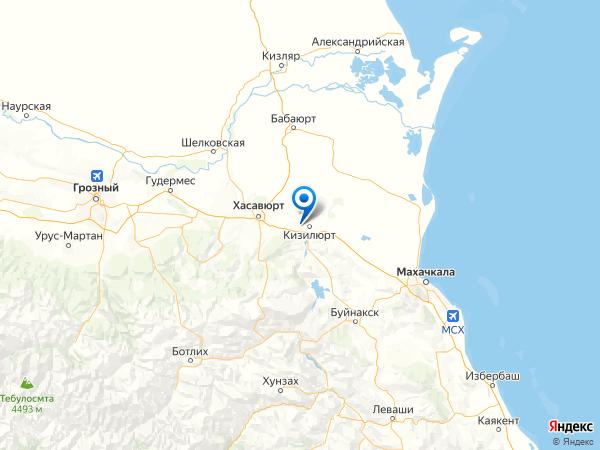 поселок городского типа Новый Сулак на карте