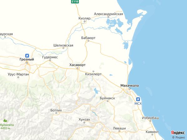 поселок Султан-Янгиюрт на карте