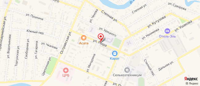 Карта расположения пункта доставки СИТИЛИНК в городе Палласовка