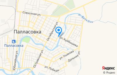 Местоположение на карте пункта техосмотра по адресу Волгоградская обл, г Палласовка, ул Комарова, зд 52