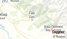 Гостиницы города Гах на карте