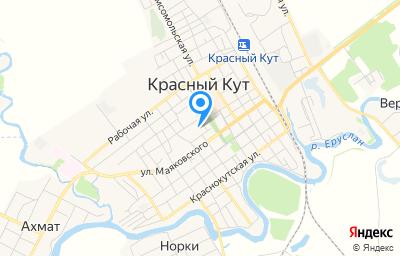 Местоположение на карте пункта техосмотра по адресу Саратовская обл, г Красный Кут, ул Коммунистическая, д 5Б/2