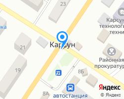 Схема местоположения почтового отделения 433236