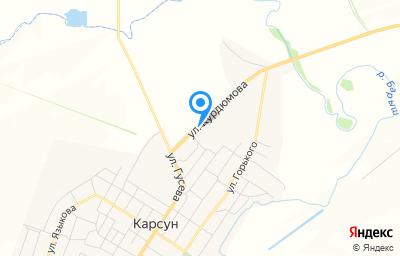 Местоположение на карте пункта техосмотра по адресу Ульяновская обл, рп Карсун, ул Курдюмова, д 9
