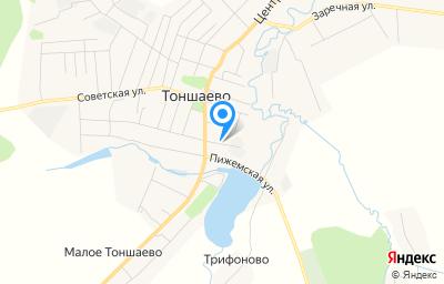 Местоположение на карте пункта техосмотра по адресу Нижегородская обл, рп Тоншаево, ул М.Горького, д 4В