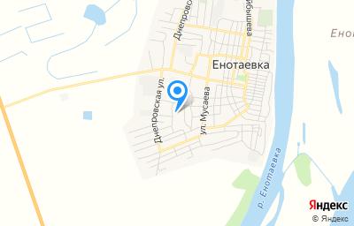 Местоположение на карте пункта техосмотра по адресу Астраханская обл, с Енотаевка, ул Чичерина, д 23А