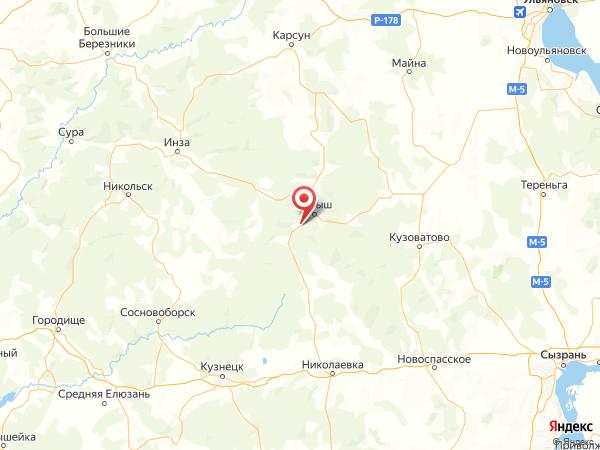 поселок Лесная Дача на карте