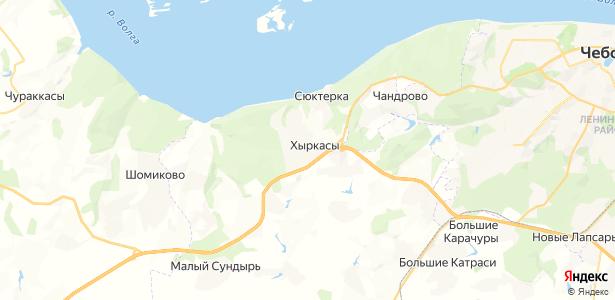 Хыркасы на карте