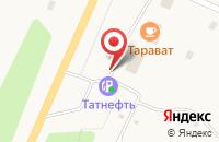 Схема проезда до компании АЗС Tatneft в Ишлеях