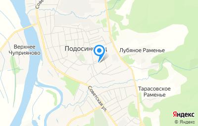 Местоположение на карте пункта техосмотра по адресу Кировская обл, пгт Подосиновец, ул Садовая, д 31