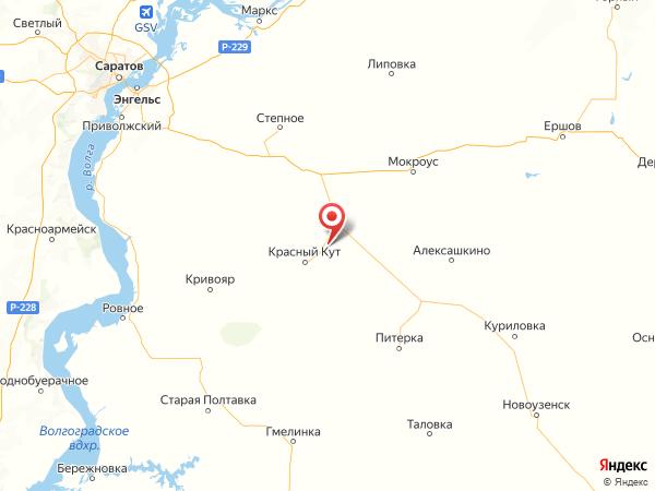 село Рудня на карте