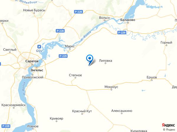 село Калининское на карте