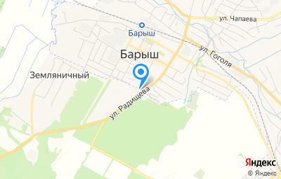 Местоположение на карте пункта техосмотра по адресу Ульяновская обл, Барышский р-н, г Барыш, ул Радищева, д 90З