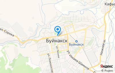 Местоположение на карте пункта техосмотра по адресу Респ Дагестан, г Буйнакск, ул Имама Гази-Магомеда, д 35А/5