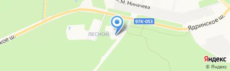 Центр защиты леса Чувашской Республики на карте Чебоксар