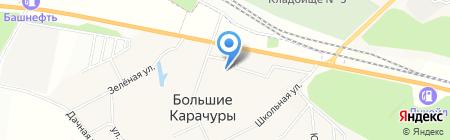 Больше-Карачуринская Модельная библиотека на карте Больших Карачуров