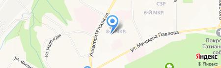 Городская больница скорой медицинской помощи на карте Чебоксар