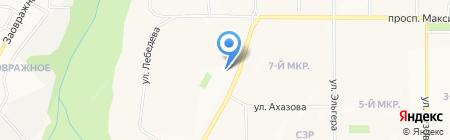Заветный источник на карте Чебоксар