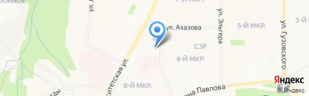 Пестрый Блюз на карте Чебоксар