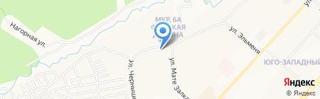 Продуктовый магазин на ул. Мате Залка на карте Чебоксар
