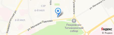 Диана на карте Чебоксар