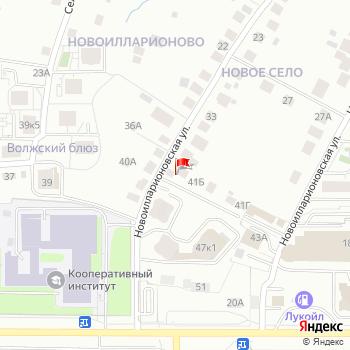 г. Чебоксары, ул. Новоилларионовская,39 на карта