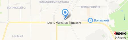 Автомойка на проспекте Максима Горького на карте Чебоксар