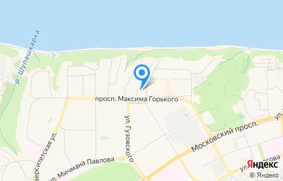 Местоположение на карте пункта техосмотра по адресу г Чебоксары, пр-кт Максима Горького, д 18А