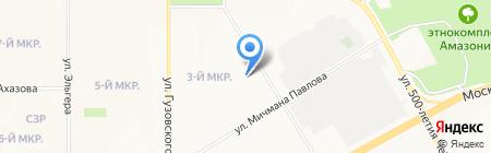 Олимпийский на карте Чебоксар