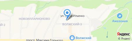 Милена на карте Чебоксар