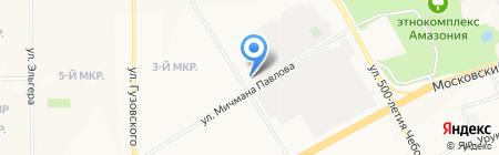 Мир моих друзей на карте Чебоксар
