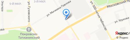 Профиль на карте Чебоксар