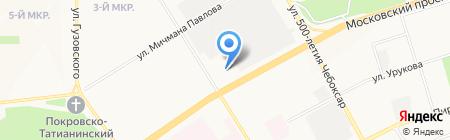 Мастак на карте Чебоксар
