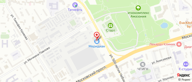 Карта расположения пункта доставки СИТИЛИНК в городе Чебоксары