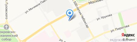 Железнофф на карте Чебоксар