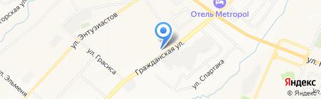 Сластена на карте Чебоксар