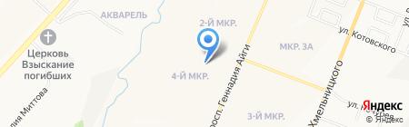Садовый на карте Чебоксар